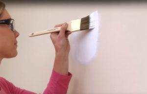 selador na parede