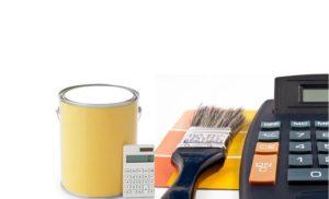 orçamento de tintas